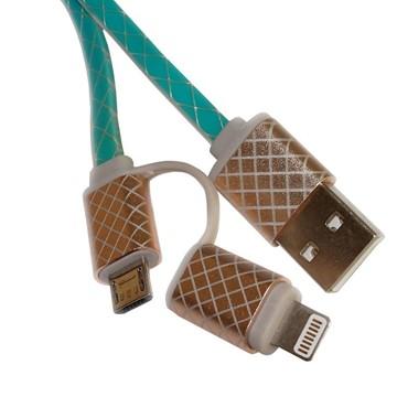 USB Ladekabel - Hellblau