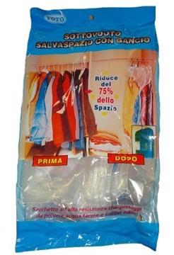 Vakuumbeutel für Kleider mit Haken für Kleiderschrank - 70x105 cm