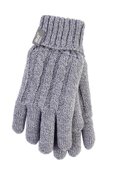 Heat Holders - Ladies Gloves Gray Twist S/M