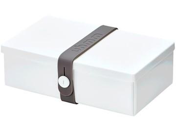 Uhmm Box Lunchbox No. 01 Weiss/Grau